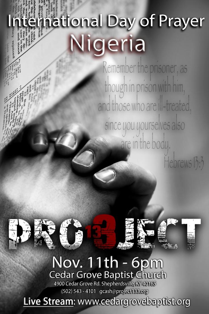 Project 13:3 IDOP prayer persecution christian persecution Nigeria