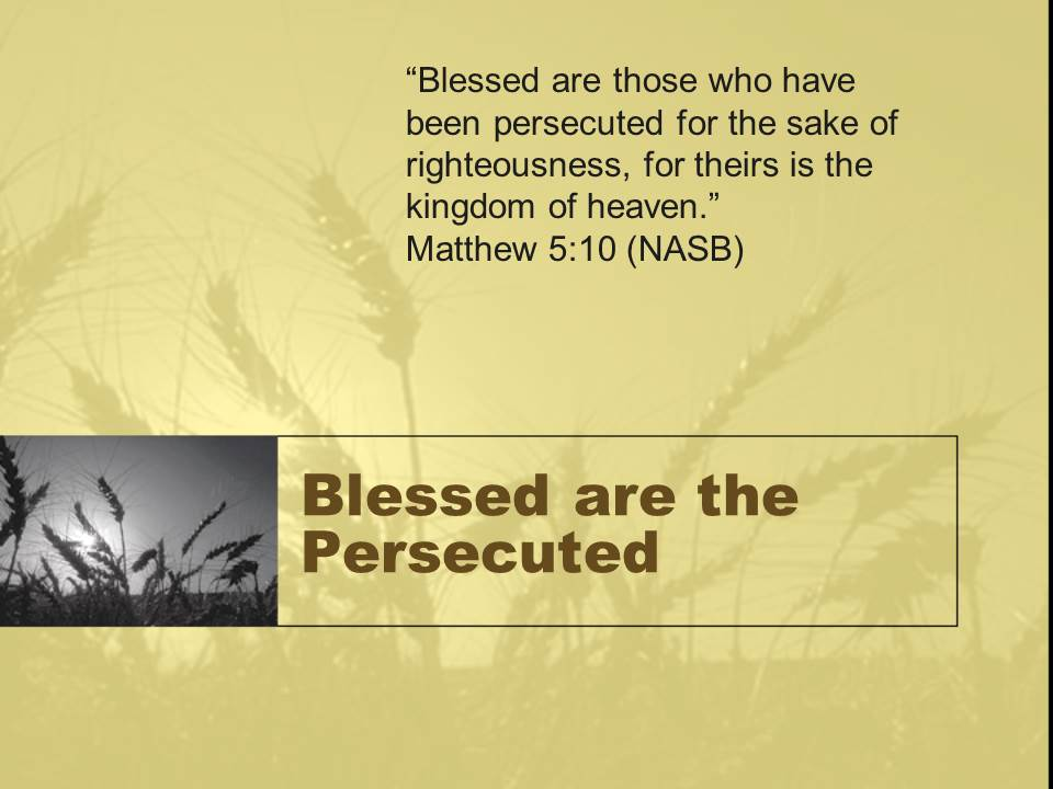 why were you persecuted Experiencing health and wealth is not the sign that god's power is with you, but  rather that you are enduring persecution through the strength.