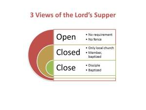 Lord Supper Close Communion