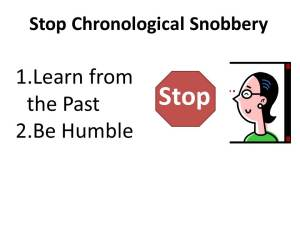 Chronological Snobbery