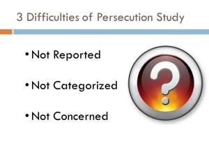 Christian Persecution Study