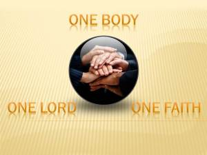 sticky sermon illustration unity one faith