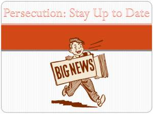 Persecution Resources Updates news