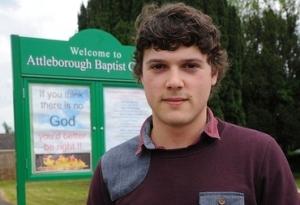 Baptist hate crime hell norfolk attleborough