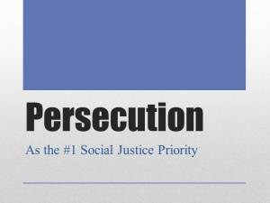 Persecution Social Justice